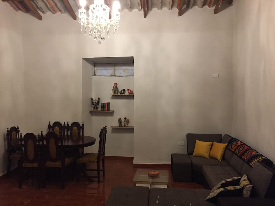 This is the living room and if you are more than 2 people, extra people can sleep on the couch or we can give you 1 or 2 extra mattress to put it on the floor.