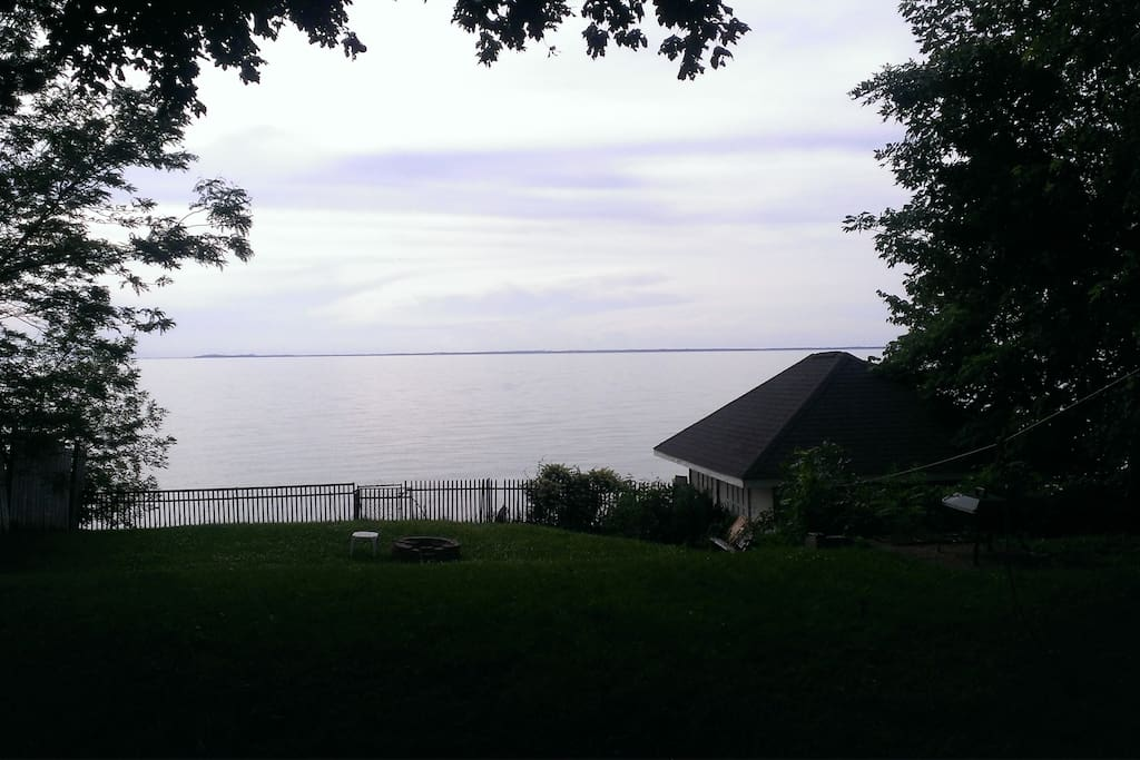 Yes this is the view of Lake Erie