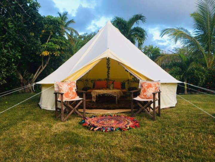Luxury Canvas Cottage. Bell Tent.