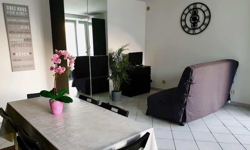 Appartement en rez de jardin avec parking sécurisé