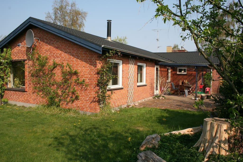 House seen from private garten