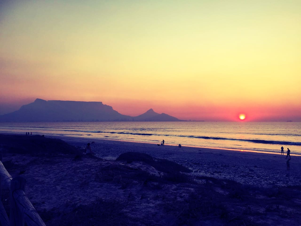 Most beautiful view of Table Mountain from Sunset Beach