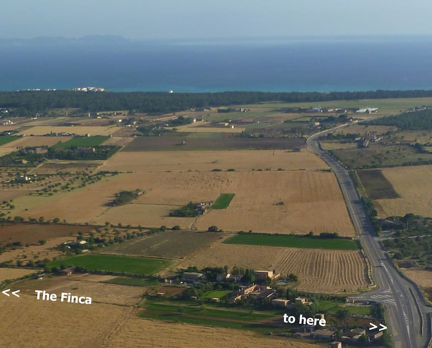"2,5 km to the pristine beach of ""Es Trenc"""