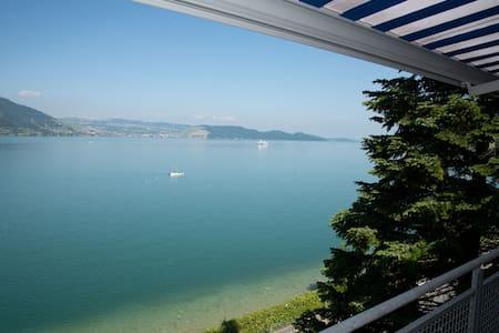 Traumwohnung, grosse Terrasse, direkt am Zuger See