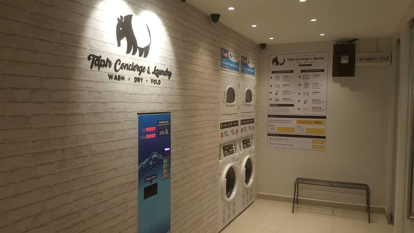 24 hrs Launderette, Coin Operated Laundry available at UG Floor