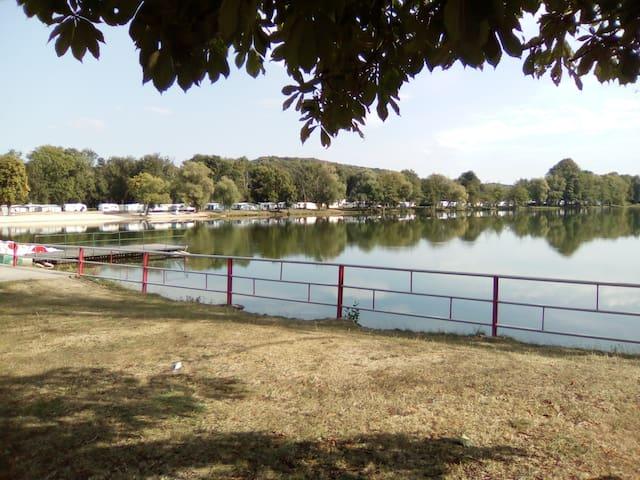 lac vert plage
