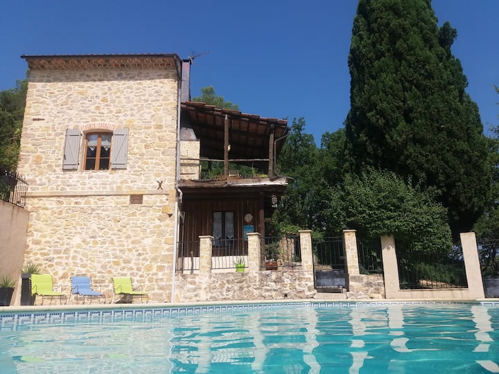 PROVENCE : Old Trainhouse  with big private pool