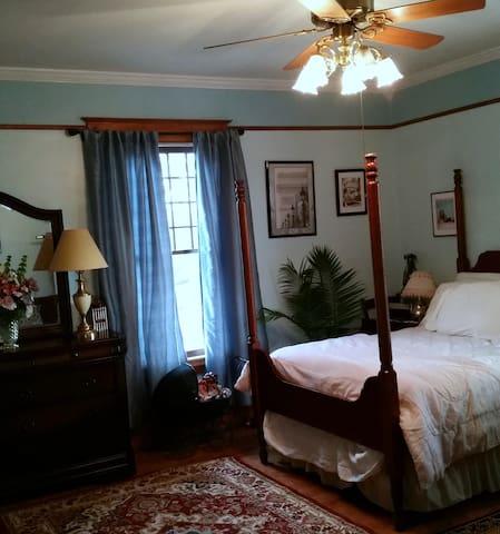 One cozy corner of the guestroom.