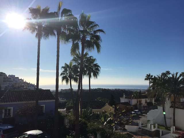 The implacable views of Marbella & the Mediterranean & Africa from the terrace