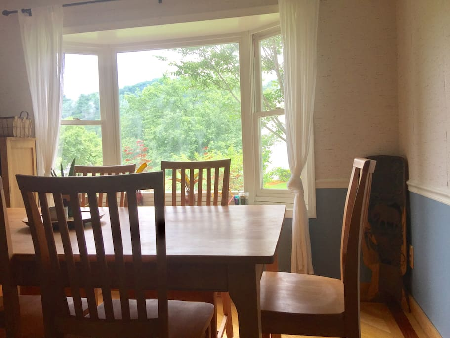 Enjoy mountain views while you have a meal