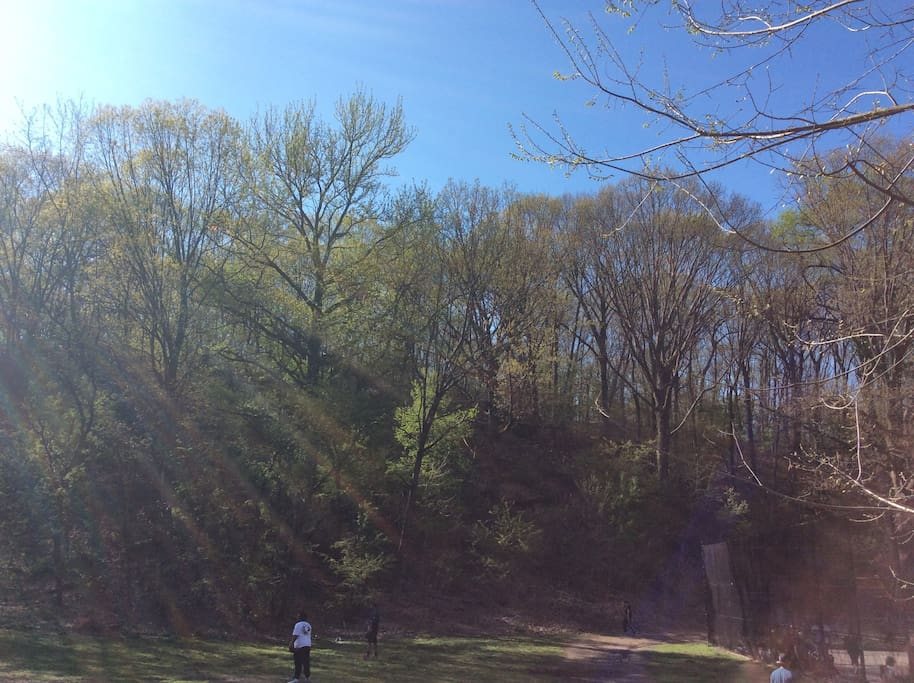 Two minute walk to gorgeous parks -- yes this is Manhattan