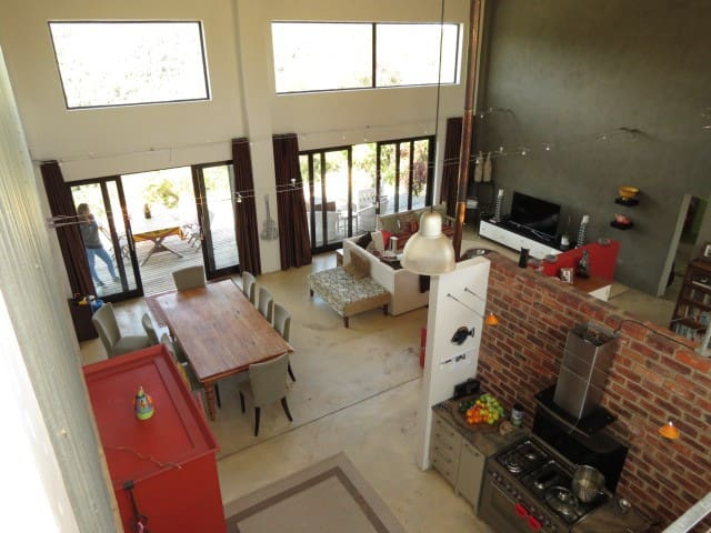 Shared Living and Kitchen Area