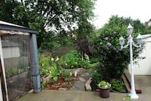 You can use the back yard gazebo