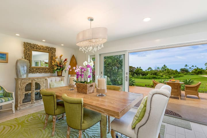 Fairway front, Private home, Pool, Every amenity, Tropical glam, Hokulani Villa