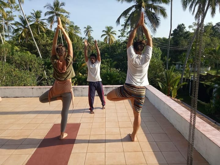Ayurveda an yoga tritment  with full board room