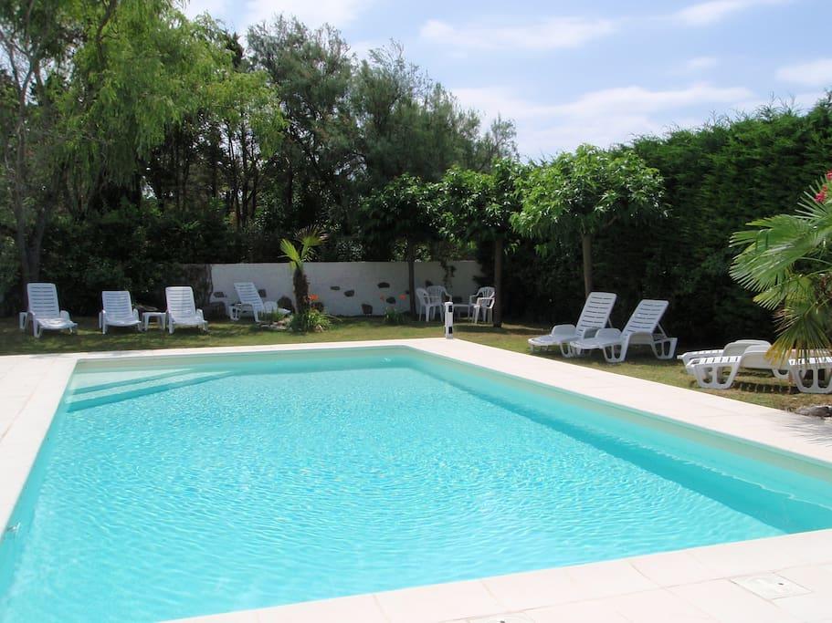 Heated south facing pool
