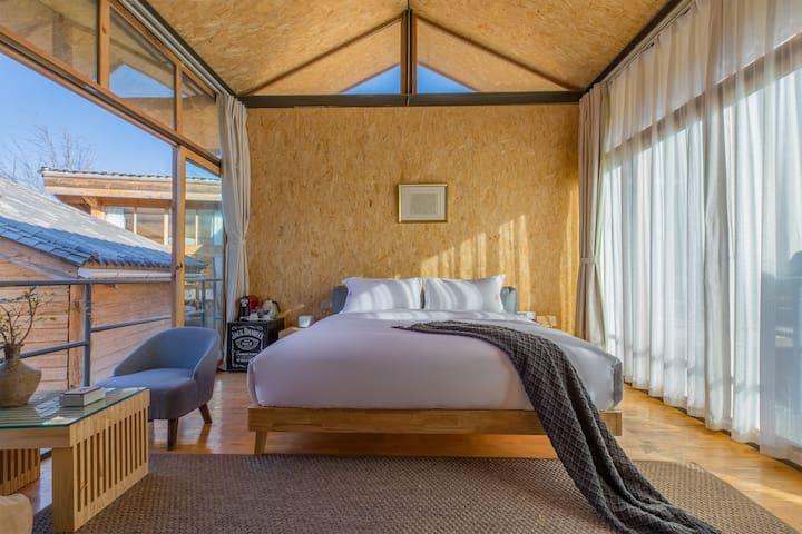 白沙雪山小筑*静谧时光特色大床房