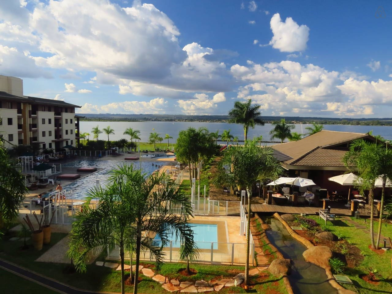 Vista interna do Life Resort