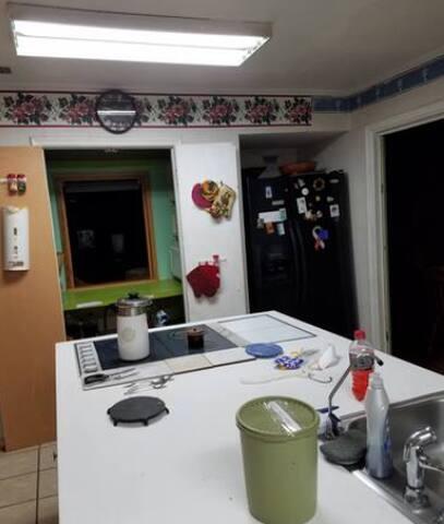 single room, outside door plus door inside doors