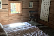 First bedroom on the second floor, corner room. Good views overlooking our stable and pastures.