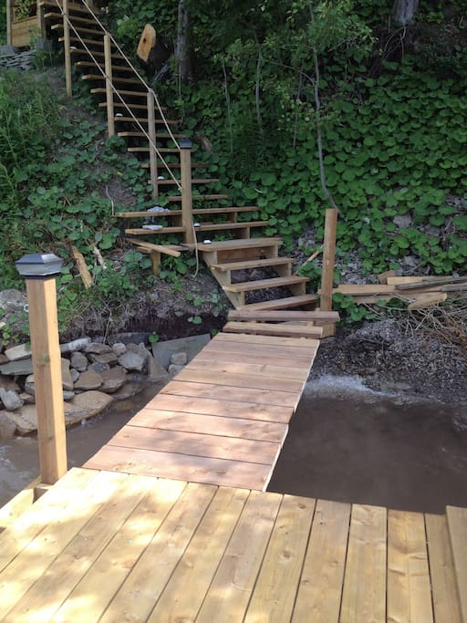 Stairs down to dock