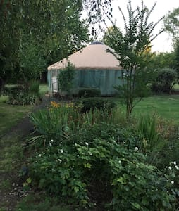 Stay in a yurt in the country! - Canby