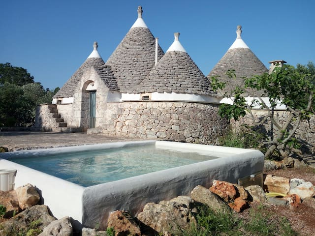 TRULLO IL MELOGRANO   relax in piscina