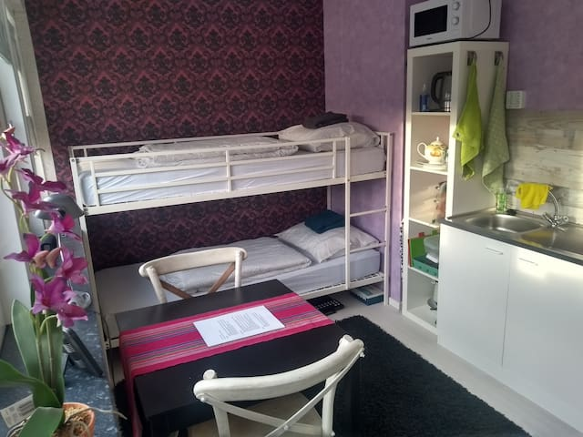 Simple room & bunkbed, kitchen - Utrecht City Ctr