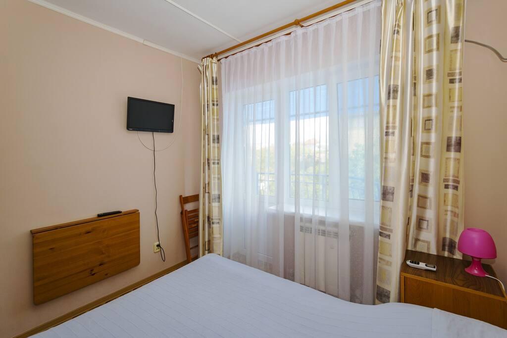 """Двухместный номер в Гостевом доме """"Мечта"""" с собственной ванной комнатой и балконом"""