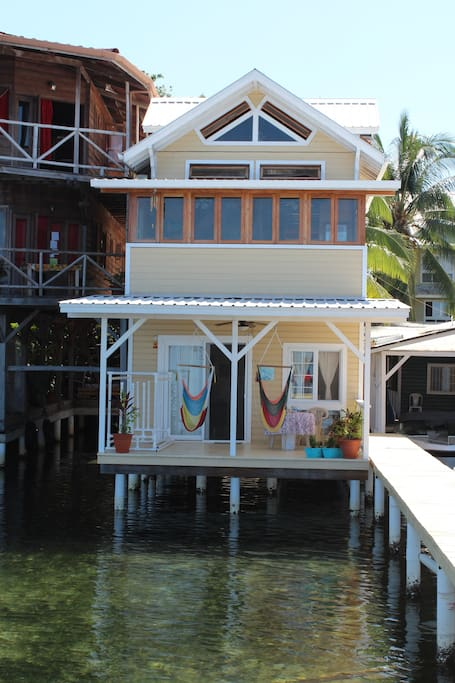View of the front from the water
