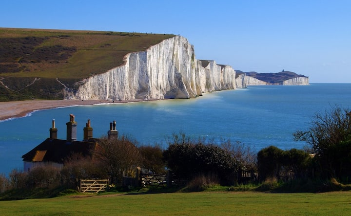 Ensuite double room -  South Downs and Sea