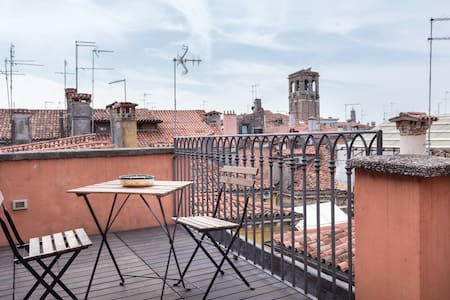 Rialto: studio/loft, breathtaking terrace and view - Venecia