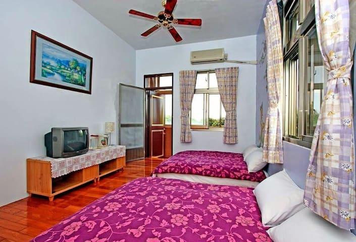 小鹿斑比四人親子房(2床) - Hualien City - Haus