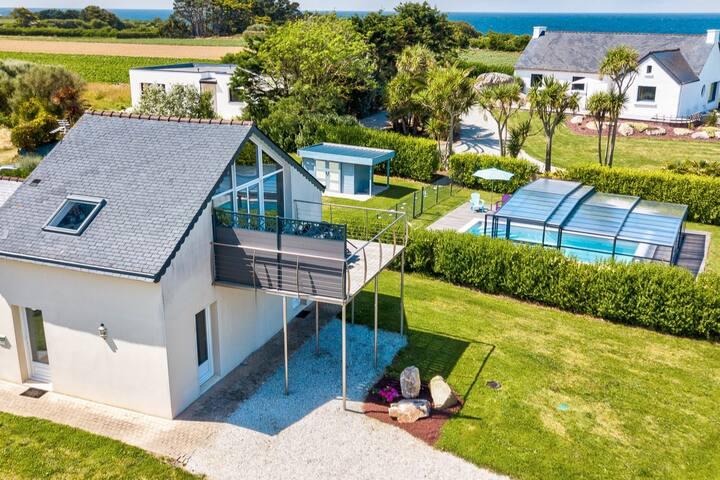 TY AR MOR - Vue mer - piscine chauffée et couverte