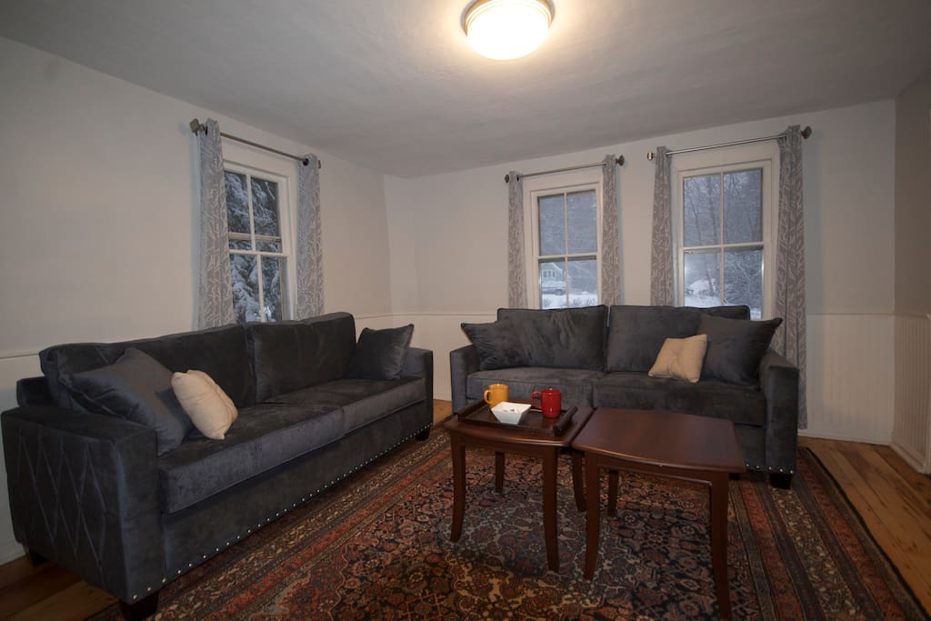 Living room - sleeper sofa has memory foam mattress