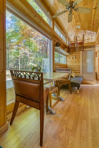 Welcome to your 300 square foot Tinyhouse to enjoy!  unplug in the woods in a minimalistic space.