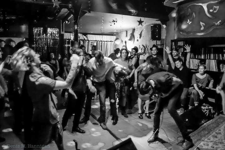 The 131!!! Getting down with locals!!! Photo by Denis Hannigan