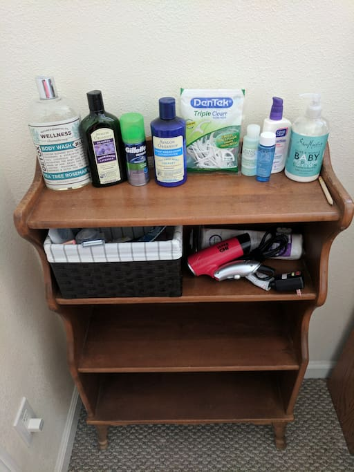 Toiletries in case guests forget anything