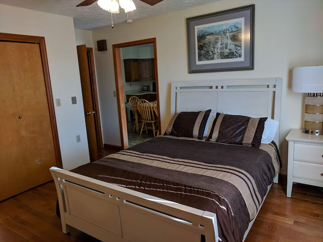 Master suite with organic mattress.  Comfort at its finest.