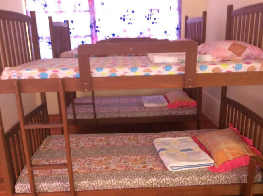 Two sets of bunk beds for 4