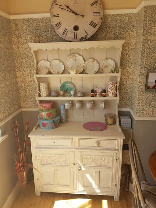 Welsh dresser with breakfast china