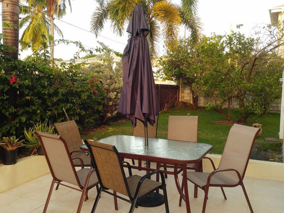 One of two patios - private and perfect for large families and group of friends