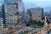 Night view - Business towers and Morumbi Shopping - Av. Chucri Zaidan, Av. Berrini