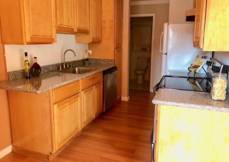 Open Kitchen Area.
