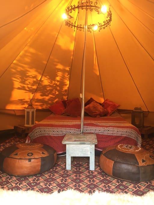 inside bell tent