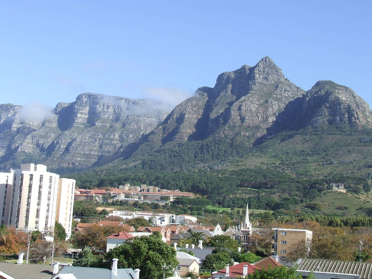 View of UCT from the Lounge