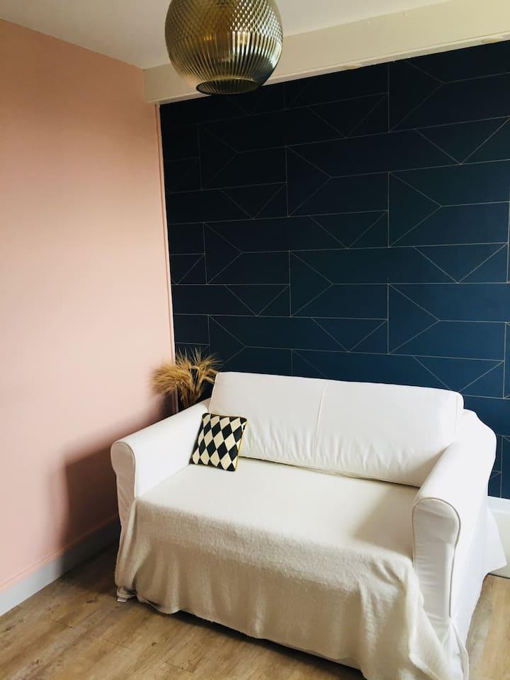 Chambre cosy proche Place Dupuy/Halle aux grains