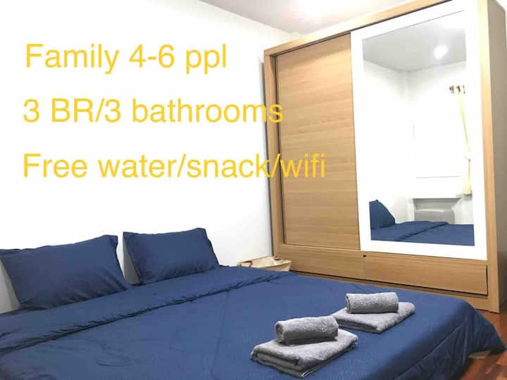 Newest Warm&cozy 3BR 2Mins /Tesco lotus (branch2)