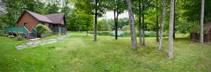 Private cabin on 47 acres. Pond/hiking trails