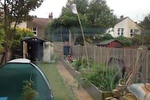 Quite quirky garden flat .